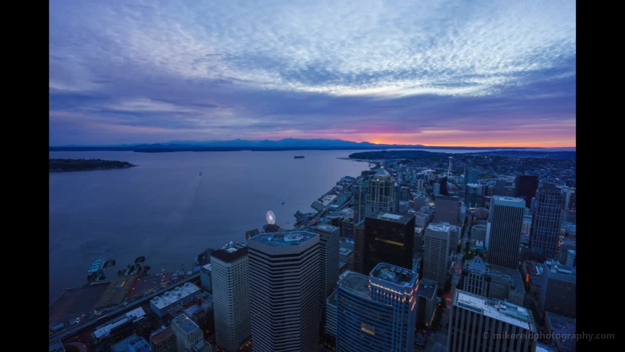 Seattle Sunset Timelapse from the Sky View Observatory