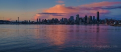 Alki Seattle Dramatic Clouds Reflection : sunset, sunrise, seattle, northwest photography, dramatic, beautiful, washington, washington state photography, northwest images, seattle skyline, city of seattle, puget sound, aerial san juan islands