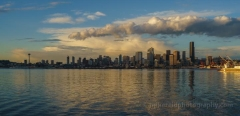 Alki Seattle Dusk Wide Panorama