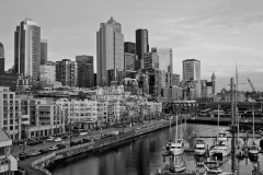 Black White Seattle Skyline : sunset, sunrise, seattle, northwest photography, dramatic, beautiful, washington, washington state photography, northwest images, seattle skyline, city of seattle, puget sound, aerial san juan islands