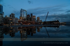 Blue Evening Cityscape : sunset, sunrise, seattle, northwest photography, dramatic, beautiful, washington, washington state photography, northwest images, seattle skyline, city of seattle, puget sound, aerial san juan islands, reid, mike reid photography