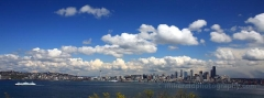 Clouds Seattle Skyline Alki Panorama