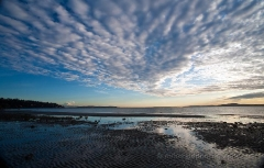 Dramatic Discovery Park Beach Skies : sunset, sunrise, seattle, northwest photography, dramatic, beautiful, washington, washington state photography, northwest images, seattle skyline, city of seattle, puget sound, aerial san juan islands