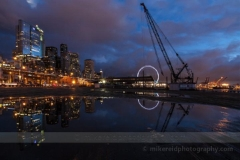 Dramatic Seattle Deep Blue Reflection Sunset : sunset, sunrise, seattle, northwest photography, dramatic, beautiful, washington, washington state photography, northwest images, seattle skyline, city of seattle, puget sound, aerial san juan islands