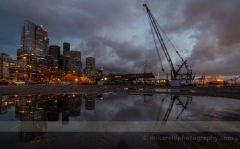 Dramatic Seattle Grey Reflection Sunset : sunset, sunrise, seattle, northwest photography, dramatic, beautiful, washington, washington state photography, northwest images, seattle skyline, city of seattle, puget sound, aerial san juan islands