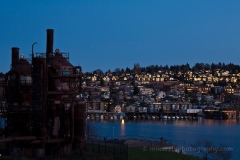 Eastlake Sunset Dusk : sunset, sunrise, seattle, northwest photography, dramatic, beautiful, washington, washington state photography, northwest images, seattle skyline, city of seattle, puget sound, aerial san juan islands
