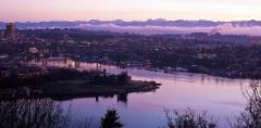 Lake Union and Gasworks Park View : sunset, sunrise, seattle, northwest photography, dramatic, beautiful, washington, washington state photography, northwest images, seattle skyline, city of seattle, puget sound, aerial san juan islands