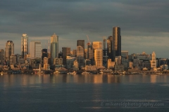 Seattle Dusk Waterfront Skyline from Alki