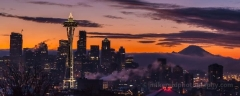 Seattle Foggy Winter Sunrise Darker To order a print please email me at  Mike Reid Photography : sunset, sunrise, seattle, northwest photography, dramatic, beautiful, washington, washington state photography, northwest images, seattle skyline, city of seattle, puget sound, kerry park