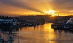 Seattle Ship Canal Sunrise Sunstar : sunset, sunrise, seattle, northwest photography, dramatic, beautiful, washington, washington state photography, northwest images, seattle skyline, city of seattle, puget sound, aerial san juan islands, reid, mike reid photography
