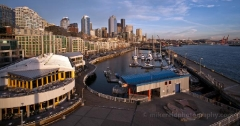 Seattle Sky from Bell Harbor : sunset, sunrise, seattle, northwest photography, dramatic, beautiful, washington, washington state photography, northwest images, seattle skyline, city of seattle, puget sound, aerial san juan islands, reid, mike reid photography