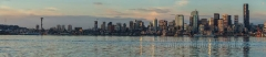 Seattle Skyline Calm Pano : sunset, sunrise, seattle, northwest photography, dramatic, beautiful, washington, washington state photography, northwest images, seattle skyline, city of seattle, puget sound, aerial san juan islands, reid, mike reid photography