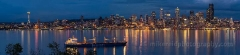 Seattle Skyline Night Reflection from Alki  I love Hamilton Viewpoint Park in West Seattle with the views it provides of the Seattle skyline especially at night. : sunset, sunrise, seattle, northwest photography, dramatic, beautiful, washington, washington state photography, northwest images, seattle skyline, city of seattle, puget sound, aerial san juan islands, alki, west seattle