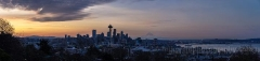 Seattle Sunrise Panorama from Queen Anne and Kerry Park To order a print please email me at  Mike Reid Photography
